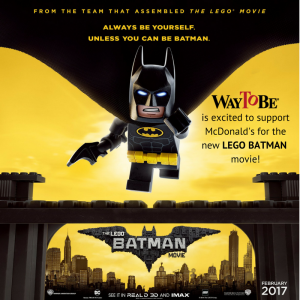 WayToBe is excited to support McDonald's for the new BATMAN promotional efforts! - v.2